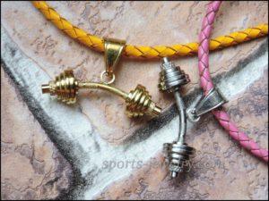 Barbell pendant Barbell pendant