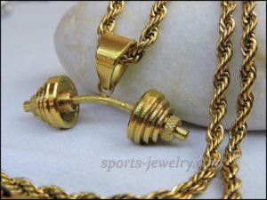 Barbell pendant Fitness gifts for men