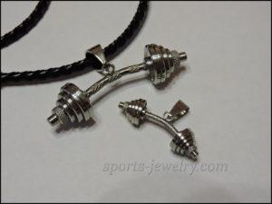 Barbell pendant Sports gift for girls
