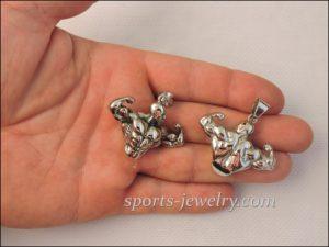 Bodybuilder pendant Jewelry for athletes