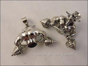 Bull barbell pendant
