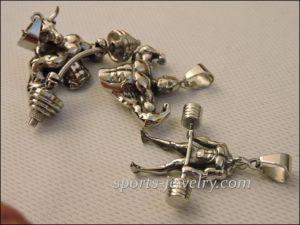 Bull barbell pendant Sports jewelry