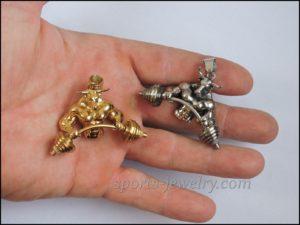 Bull pendant Powerlifting jewelry