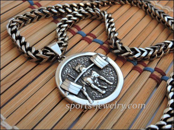 Crossfit jewelry Bodybuilder pendant