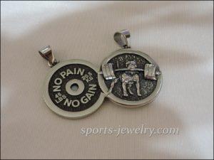 Crossfit jewelry Weight pendant