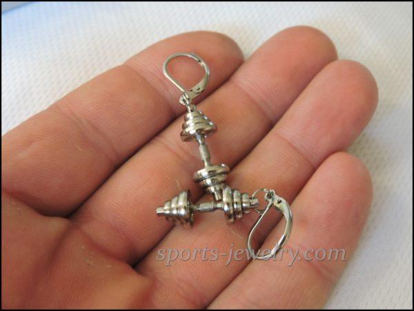 Dumbbell earrings stainless steel