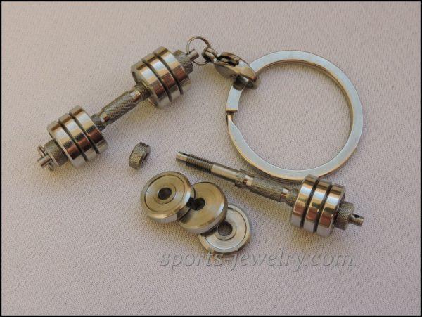 Dumbbell keychain Barbell keychain...