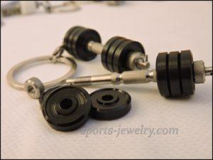 Dumbbell keychain Bodybuilding chain