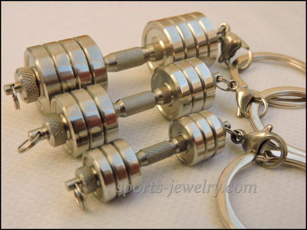 Dumbbell keychain Bodybuilding gift