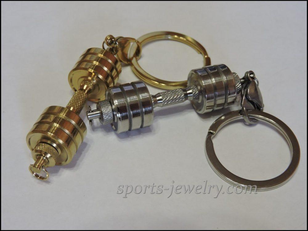 Dumbbell keychain Fitness gift