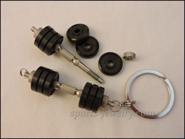 Dumbbell keychain Fitness gifts for men