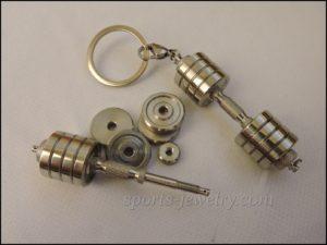 Dumbbell keychain Fitness keychain