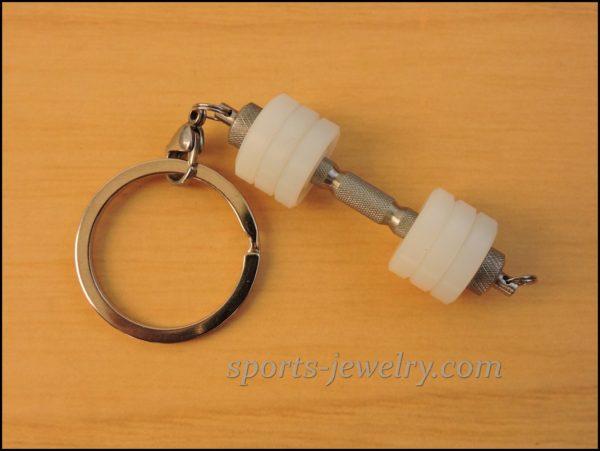 Dumbbell keychain Kettlebell pendant