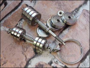 Dumbbell keychain Powerlifting gift