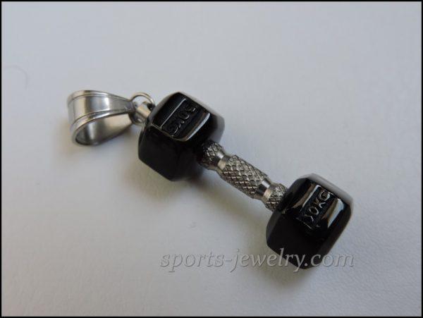 Dumbbell pendant Sports jewelry