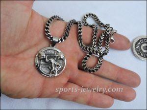 Fitness jewelry Barbell keychain