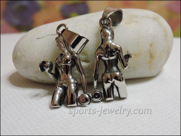 Fitness jewelry Crossfit pendant