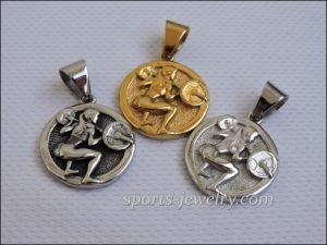 Squats women's pendant Dumbbell necklace