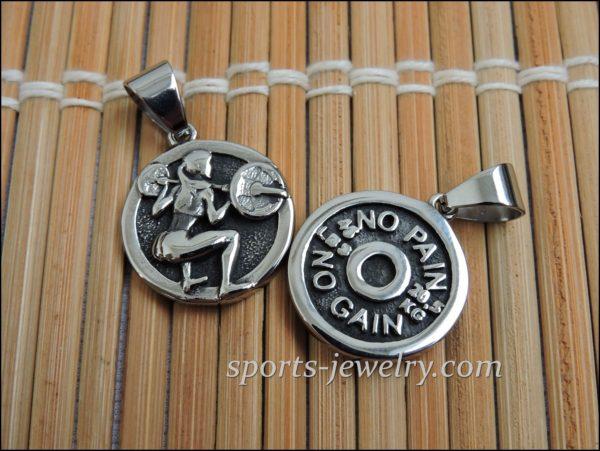 Fitness jewelry Squats women's pendant