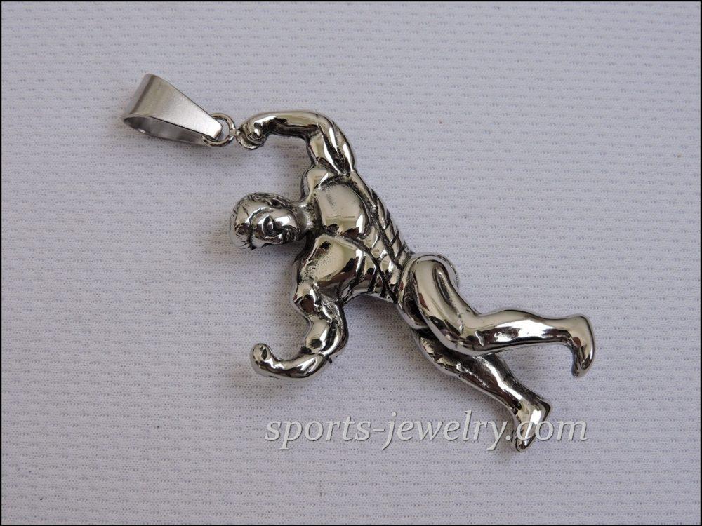 Fitness jewelry Powerlifting keychain