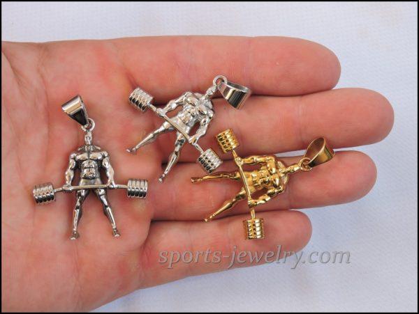 Powerlifting jewelry Bodybuilding necklace