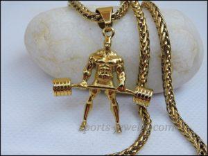 Powerlifting jewelry Sports keychain