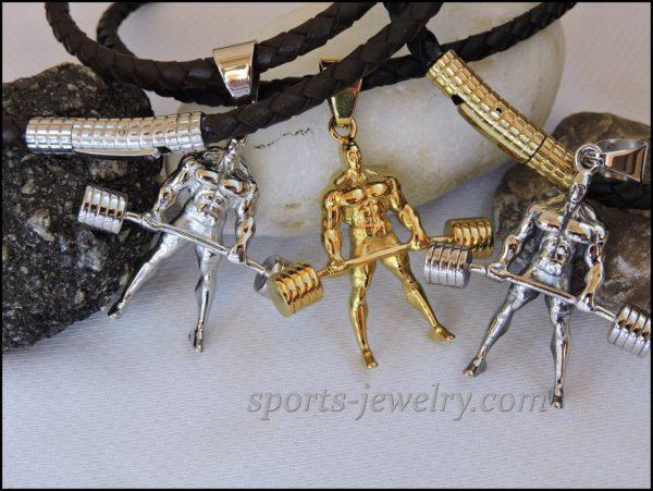 Powerlifting jewelry Sports pendants...