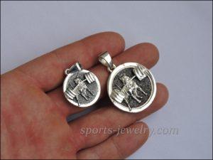 Armwrestling pendant Powerlifting keychain (2)
