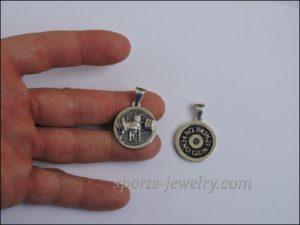Bear pendant,, Powerlifting jewelr