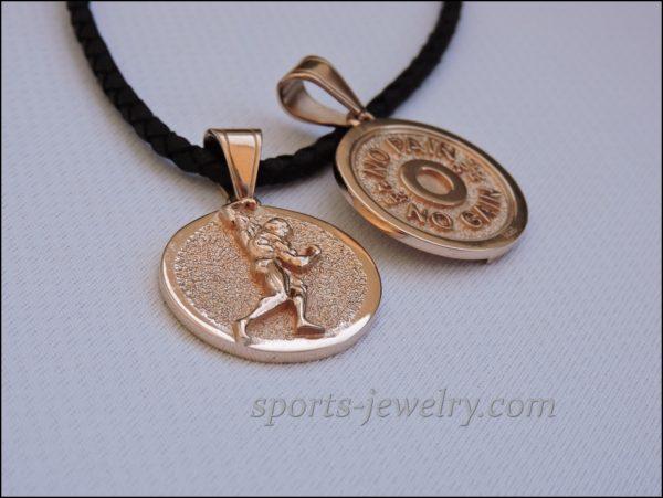 Bodybuilding jewelry Bodybuilder pendant