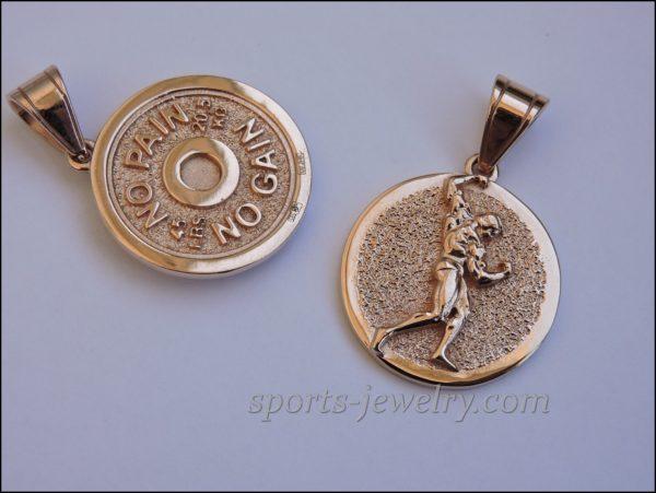 Bodybuilding necklace Bodybuilding jewelry