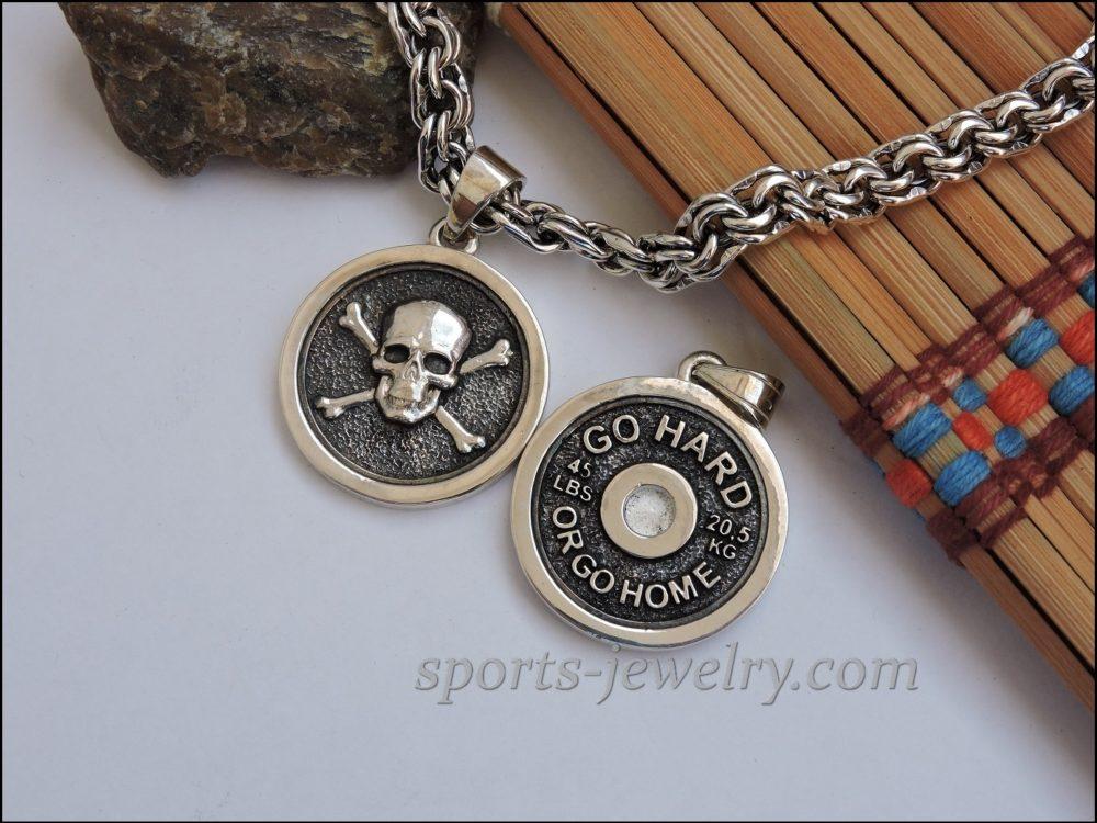 Bodybuilding-necklace-Bodybuilding-jewelry-silver