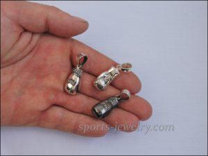 Boxing glove pendant Silver