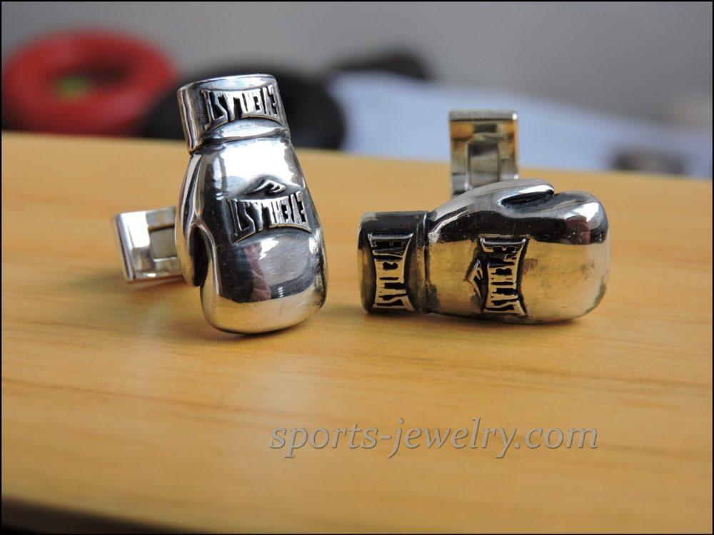 Boxing gloves cufflinks Sports cufflinks
