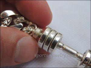 Bracelet barbell silver Powerlifting gift
