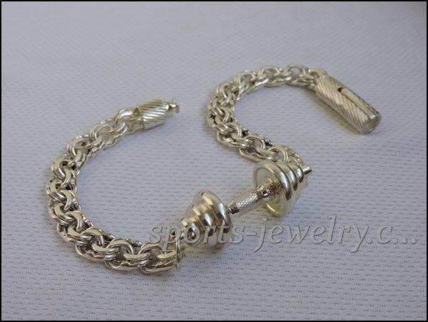 Bracelet barbell silver Sports gift