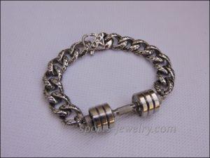 Bracelet barbell stainless steel Bodybuilding necklace