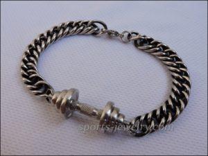 Bracelet barbell stainless steel Crossfit jewelry