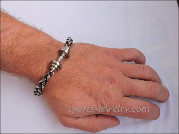 Bracelet barbell stainless steel Fitness gift