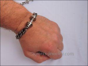 Bracelet barbell stainless steel Gym jewelry
