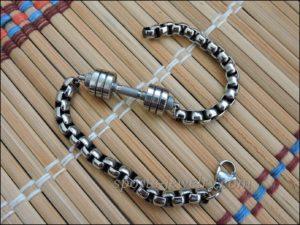 Bracelet barbell stainless steel Sports bracelets for men