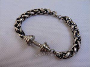 Bracelet barbell stainless steel Sports gift
