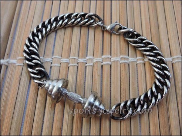 Bracelet barbell stainless steel Sports jewelry