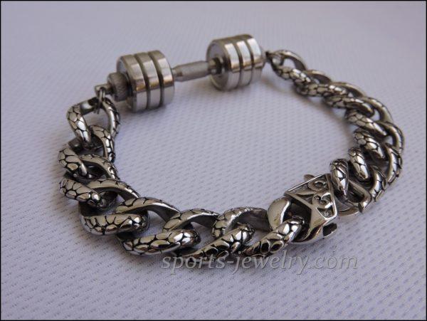 Bracelet barbell stainless steel Sports pendants