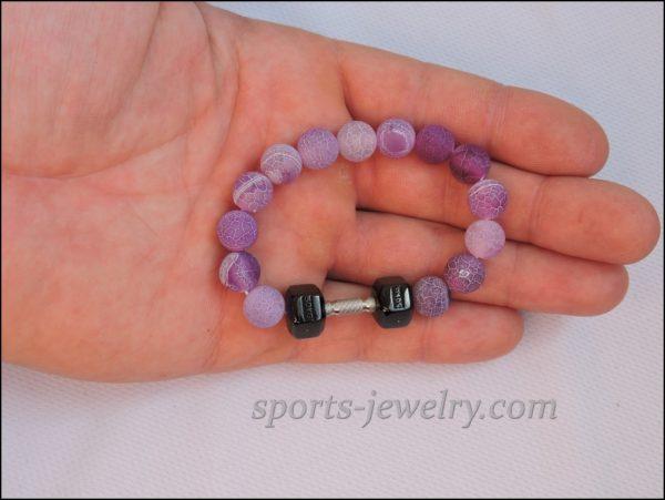 Bracelet dumbbell Crossfit jewelry