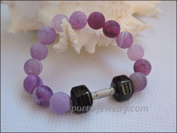Bracelet dumbbell Fitness girl gifts