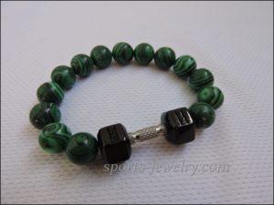 Bracelet dumbbell Jewelry for athletes