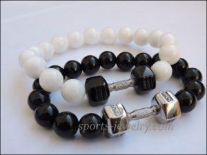 Bracelet dumbbell Mens sports bracelets