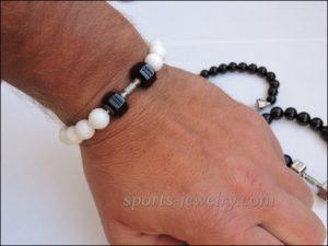 Bracelet dumbbell Sports jewelry