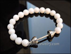 Crossfit jewelry Bracelet dumbbell